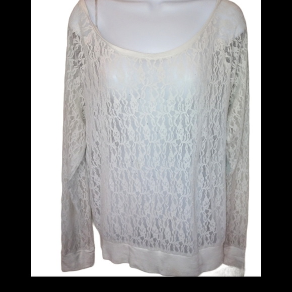 Victoria's secret/pink white lace over top shirt